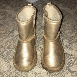 Gold GAP girls size 10 boots